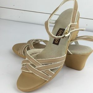 SAS Slingback Strapy Sandal Beige Triad Comfort